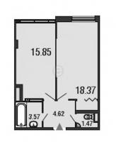 Однокомнатные квартиры в «ArtStudio»