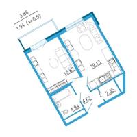 Однокомнатные квартиры в «Азимут»