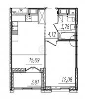 Однокомнатные квартиры в «BauHaus»