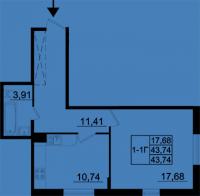 Однокомнатные квартиры в «Бельгийский квартал»