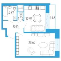 Однокомнатные квартиры в «Богатырь-3»
