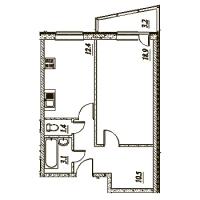 Однокомнатные квартиры в «Брусничный - 1, 2, 3»