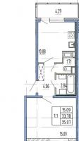 Однокомнатные квартиры в «Чистое небо»