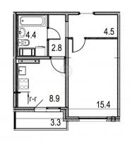 Однокомнатные квартиры в «Цивилизация»