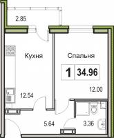 Однокомнатные квартиры в «Цвета радуги»