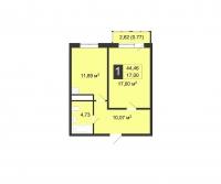 Однокомнатные квартиры в «Цветы»