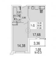 Однокомнатные квартиры в «Десяткино 2.0»