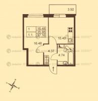 Однокомнатные квартиры в «Добрыня»