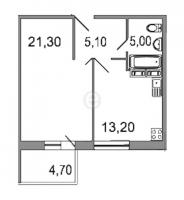 Однокомнатные квартиры в «Дом на излучине Невы»