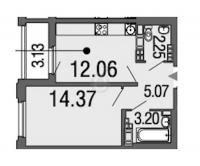 Однокомнатные квартиры в «Дом на набережной»