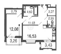 Однокомнатные квартиры в «Дом у Елагина острова»