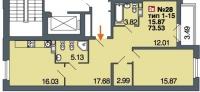Однокомнатные квартиры в «Дом у Невского»