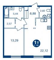 Однокомнатные квартиры в «Две Эпохи»
