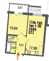 Однокомнатные квартиры в «Ecocity»