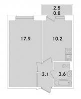 Однокомнатные квартиры в «ЭкспоГрад»
