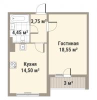 Однокомнатные квартиры в «Европа Сити»