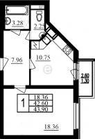 Однокомнатные квартиры в «Фламинго»
