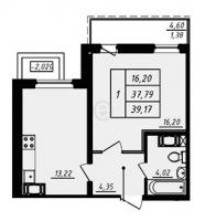 Однокомнатные квартиры в «Галактика»