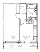Однокомнатные квартиры в «Гольфстрим»