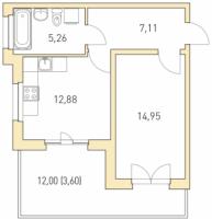 Однокомнатные квартиры в «Горки парк»