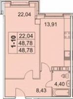Однокомнатные квартиры в «Граф Орлов»