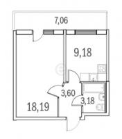 Однокомнатные квартиры в «Граффити»