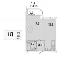 Однокомнатные квартиры в «Яркий»