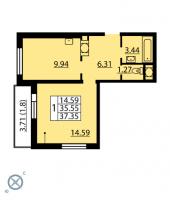 Однокомнатные квартиры в «Калейдоскоп»
