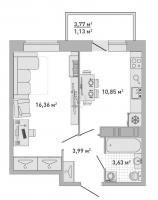 Однокомнатные квартиры в «Кантемировский»