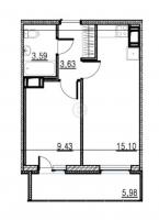 Однокомнатные квартиры в «Краски лета»