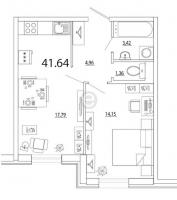 Однокомнатные квартиры в «Кремлёвские звёзды»