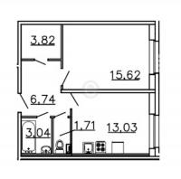 Однокомнатные квартиры в «Ленинградская перспектива»