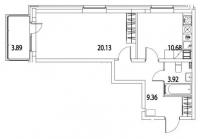 Однокомнатные квартиры в «Life Приморский»