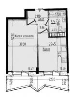 Однокомнатные квартиры в «Малая охта»
