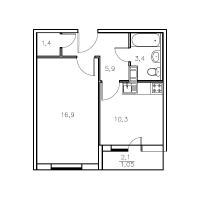 Однокомнатные квартиры в «Мандарин»