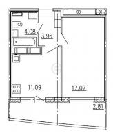 Однокомнатные квартиры в More («Море»)