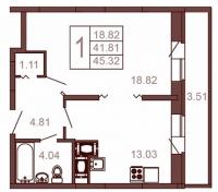 Однокомнатные квартиры в «Московский квартал»