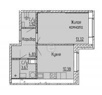 Однокомнатные квартиры в «Мурино 2017»