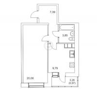 Однокомнатные квартиры в «Муринский Посад»