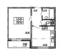 Однокомнатные квартиры в «Невская Звезда»