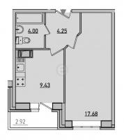 Однокомнатные квартиры в «Новое Мурино»