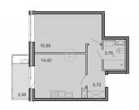 Однокомнатные квартиры в «Новоорловский»