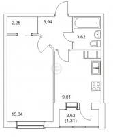 Однокомнатные квартиры в «Новые горизонты»