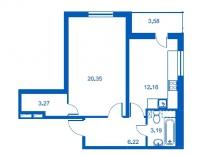 Однокомнатные квартиры в «Новый Петергоф»