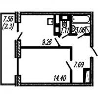 Однокомнатные квартиры в «Огни Залива»
