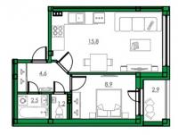 Однокомнатные квартиры в «Орже»