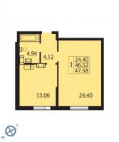 Однокомнатные квартиры в «Паруса»