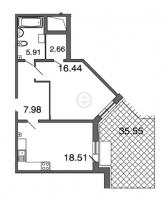 Однокомнатные квартиры в «Петровская ривьера»