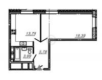 Однокомнатные квартиры в «Подкова»