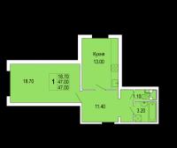 Однокомнатные квартиры в «Полководец»